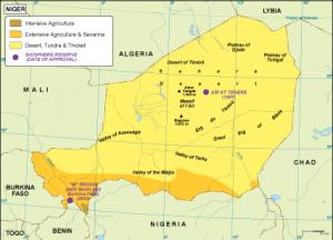 Niger vegetation map