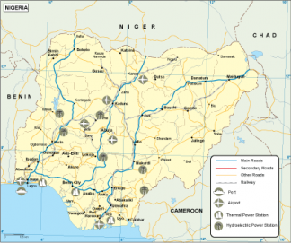 Nigeria transportation map