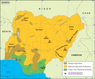 Nigeria vegetation map