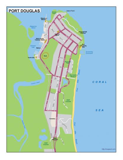 Port Douglas EPS map