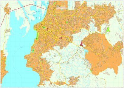 Porto Alegre vector map