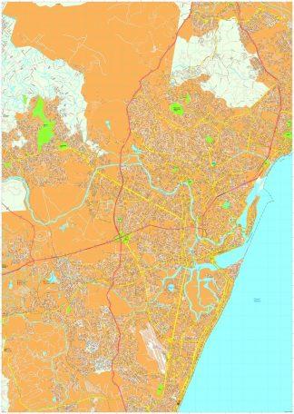 Recife vector map
