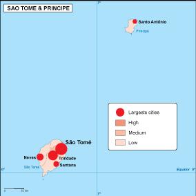 Sao Tome e Principe population map