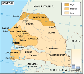 Senegal economic map