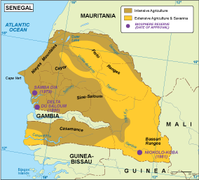 Senegal vegetation map