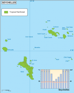 Seychelles climate map