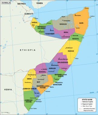 Somalia EPS map