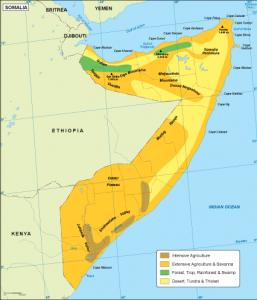 Somalia vegetation map