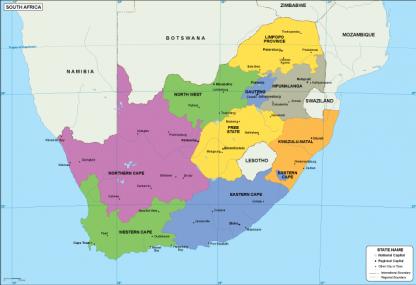 South Afriaca EPS map