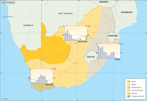 South Africa climate map