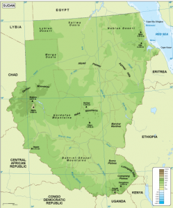Sudan physical map