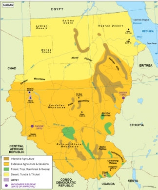 Sudan vegetation map