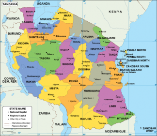 Tanzania EPS map