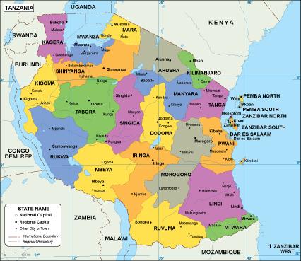 tanzania mapa Tanzania EPS map – Netmaps. Mapas de España y del mundo tanzania mapa