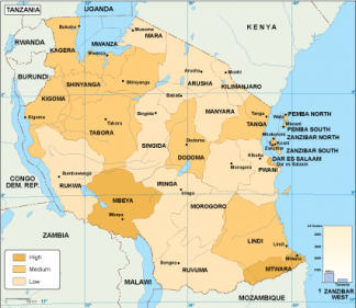 Tanzania economic map