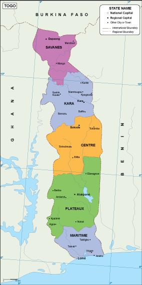 Togo EPS map