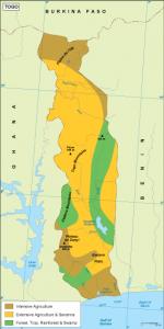 Togo vegetation map
