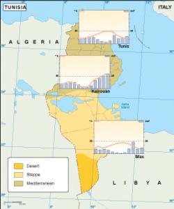 Tunisia climate map