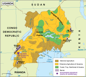 Uganda vegetation map