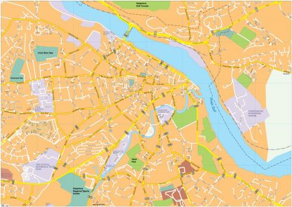 Waterford vector map