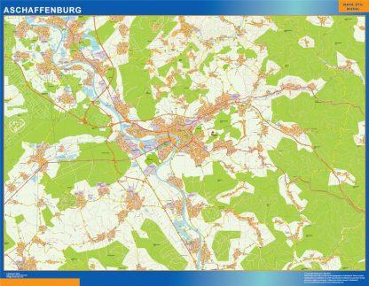 aschaffenburg karte illustrator