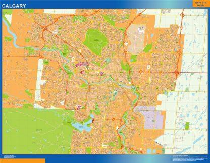 calgary vector map