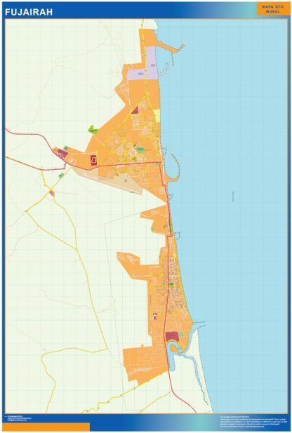 fujairah vector map