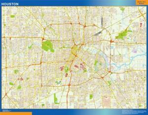 houston vector map