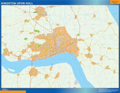 kingston upon hull vector map