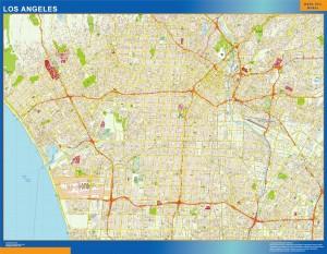 los angeles vector map