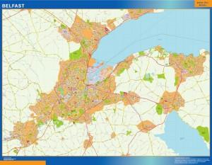 mapa belfast