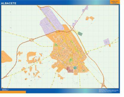mapa vectorial albacete