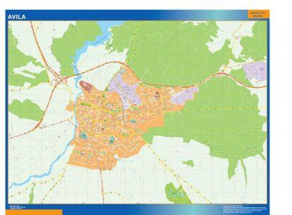 mapa vectorial avila