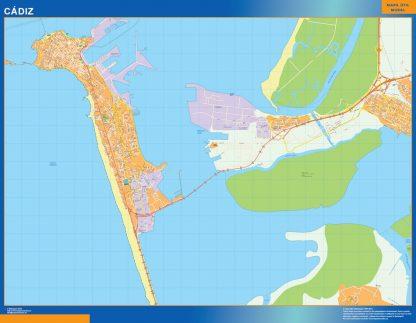 mapa vectorial cadiz