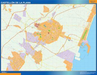 mapa vectorial castellon de la plana