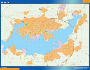 mapa vectorial ferrol