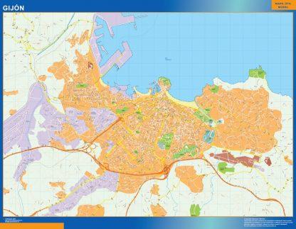 mapa vectorial gijon