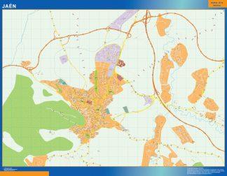mapa vectorial jaen