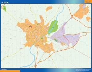 mapa vectorial lleida