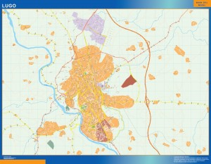 mapa vectorial lugo