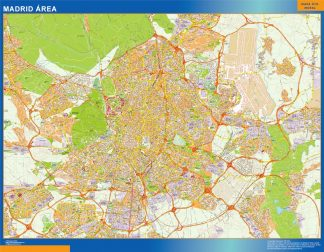 mapa vectorial madrid area