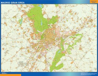 mapa vectorial madrid gran area