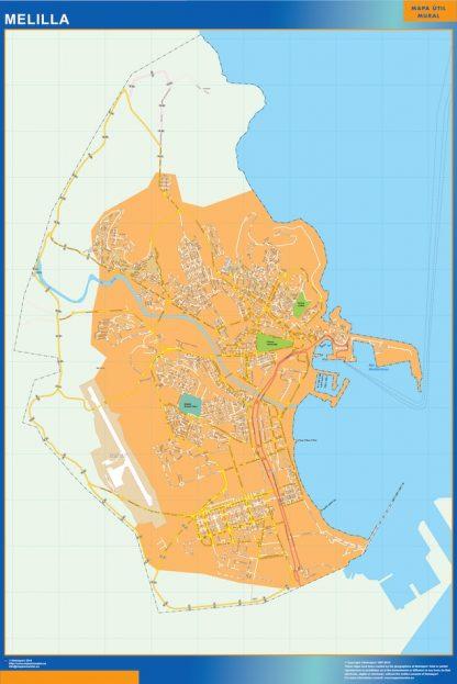 mapa vectorial melilla