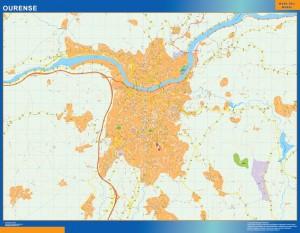 mapa vectorial ourense
