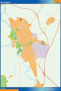 mapa vectorial palencia