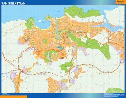 mapa vectorial san sebastian