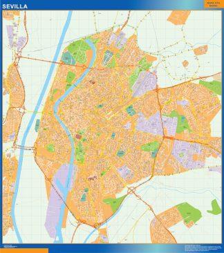 mapa vectorial sevilla