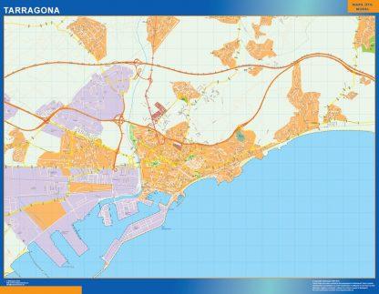 mapa vectorial tarragona