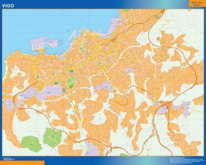 mapa vectorial vigo