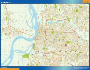 memphis vector map